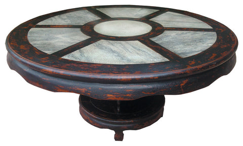 79-inch Round Top Dining Table with Marble