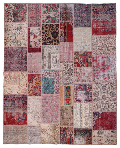 Country  Patchwork Rug 8'x10'-Undyed