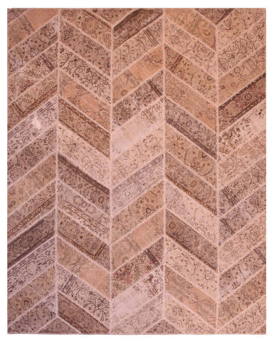 Exotic Patchwork Herringbone Rug 8'x10'