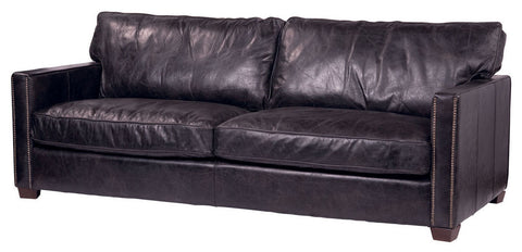 Comfortable Sofa In Old Saddle Black Shade