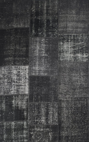 Black Patchwork Rug 8'x10'