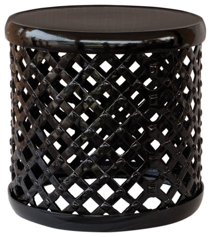 Drum Stool In Glossy Black