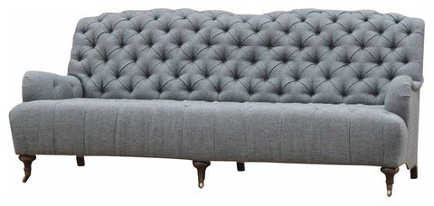 Bordeaux Charcoal Sofa W/ Roll Arms
