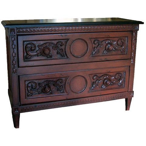 French Country Belle Fleur 2-Drawer Chest