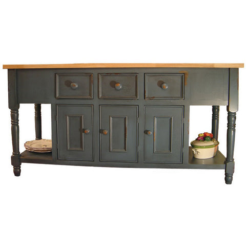French Country Painted 6' Kitchen Island
