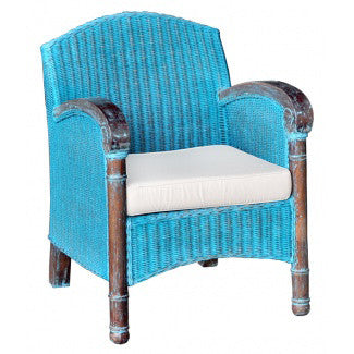 French Country Wicker Arm Chair