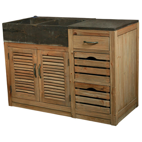 Kitchen Vanity with Stone Top