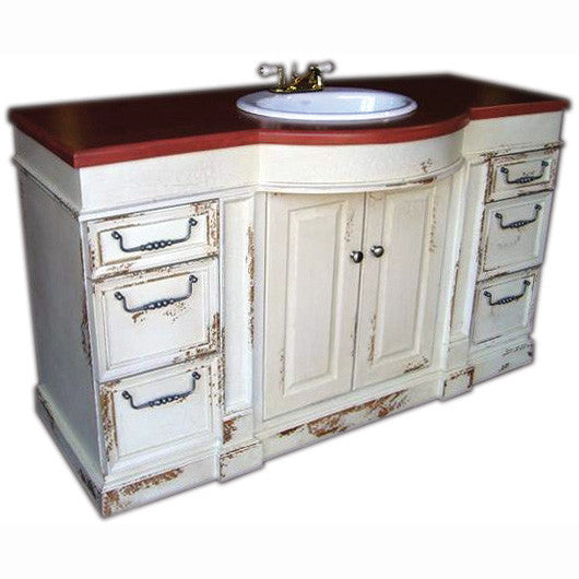 Large Bow Front Vanity