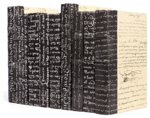 Linear Foot of Black Script Books