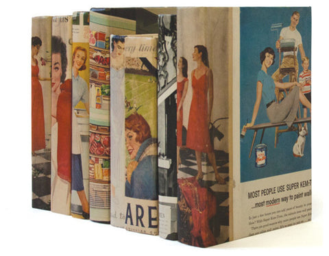 Linear Foot of Recycled Vintage US Magazine Books