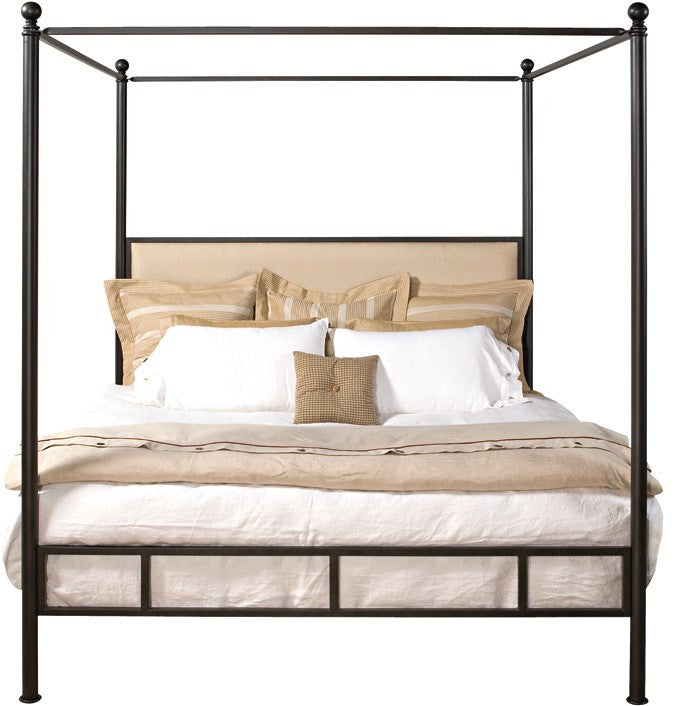 biscayne modern iron canopy bed custom furniture world