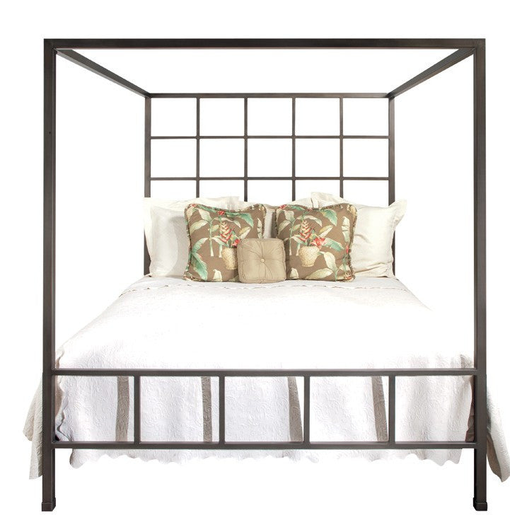Old Biscayne Calais Contemporary Iron Canopy Bed