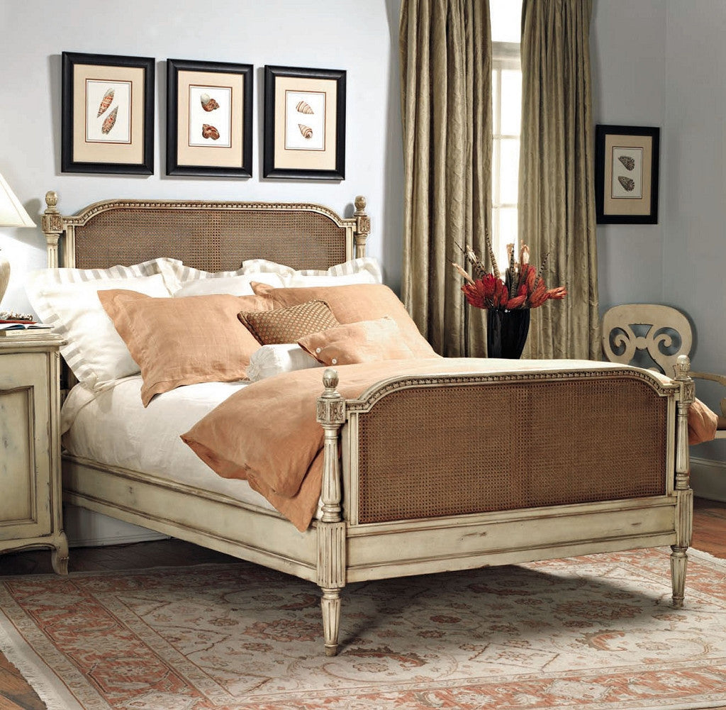 Old Biscayne Chantilly Wood Cane Bed