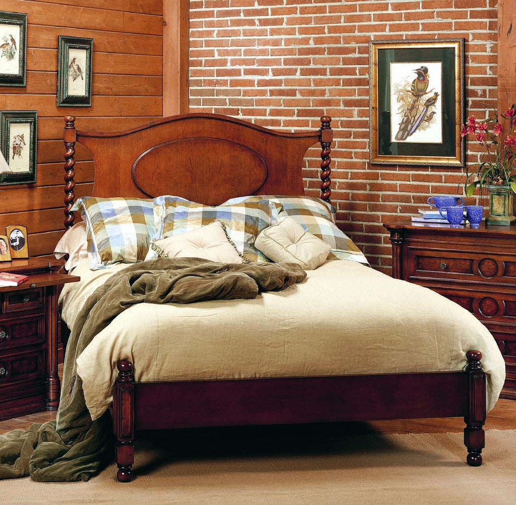 Old Biscayne Twila Wood Twist Poster Bed