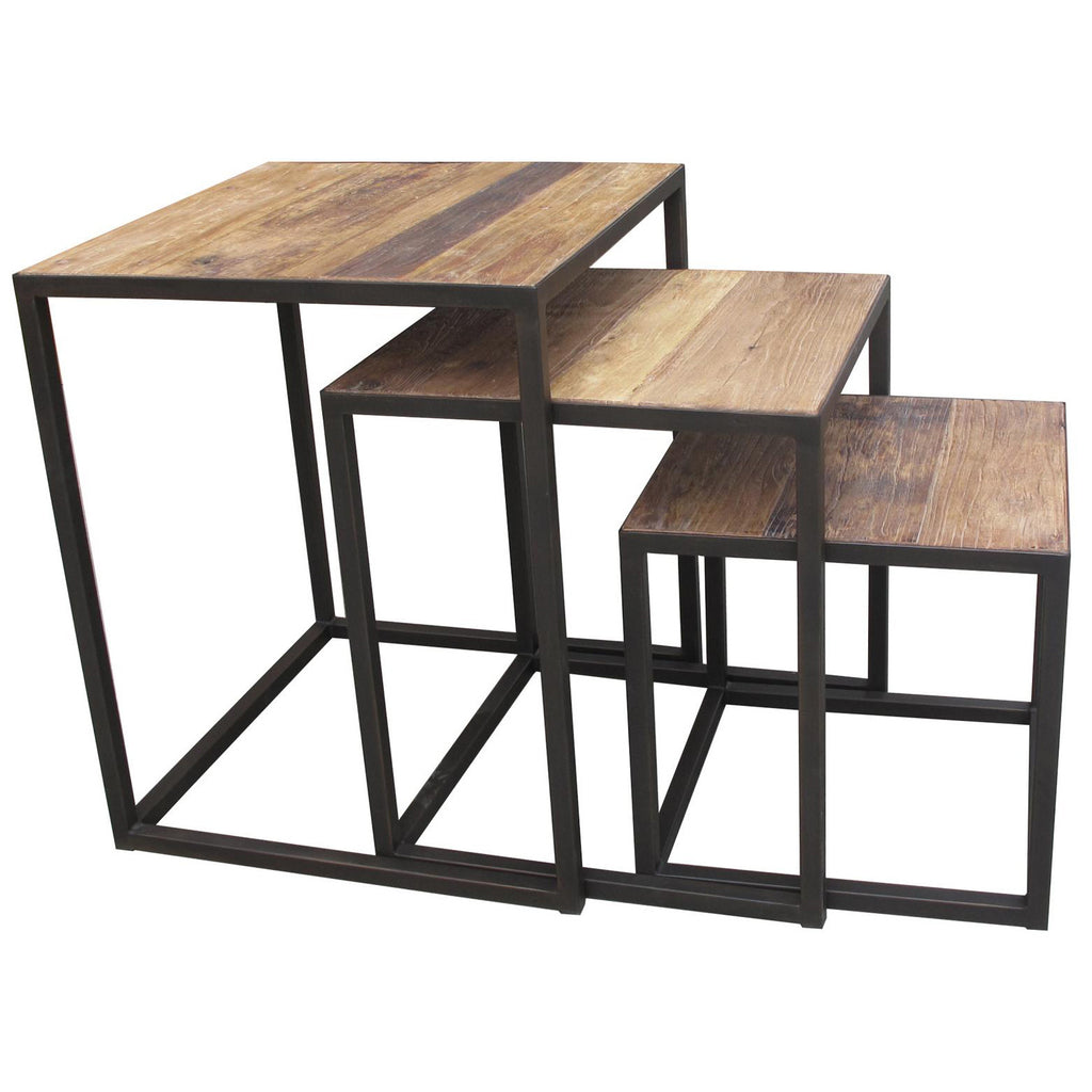 Old Elm Nesting Tables