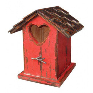 Painted Distressed Finish Bird House