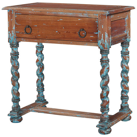 Painted Distressed Finishing Side Table