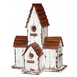 Painted Wood Bird House