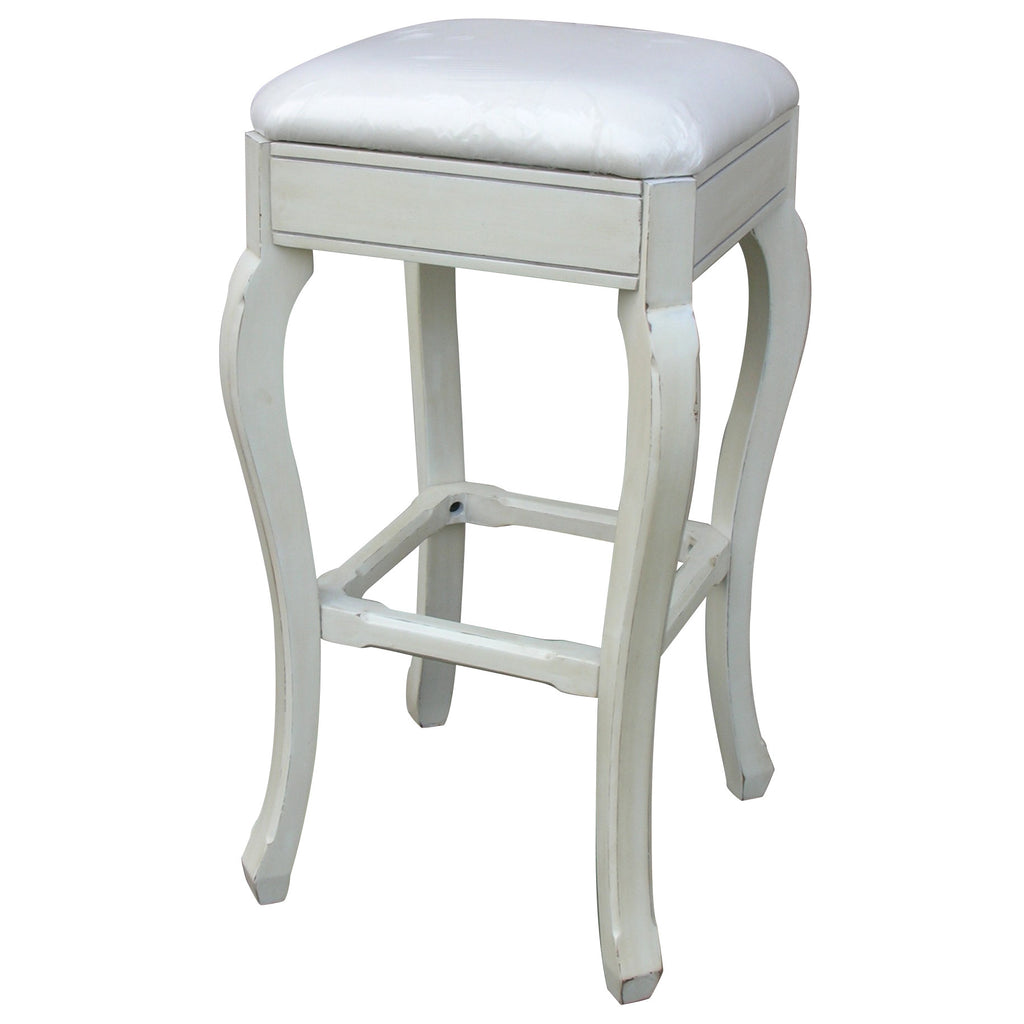 Coastal Style Backless Counter Stool