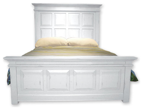 Cottage Style Queen Panel Bed