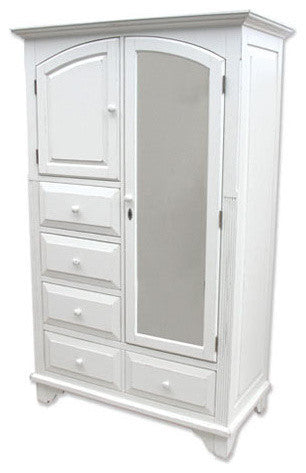 Cottage Style Mirrored Armoire