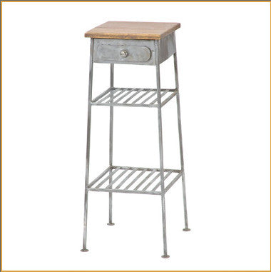 Tall Shabby Chic Side Table