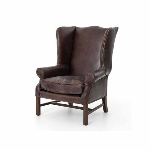 Wingback Arm Chair in Cigar Leather