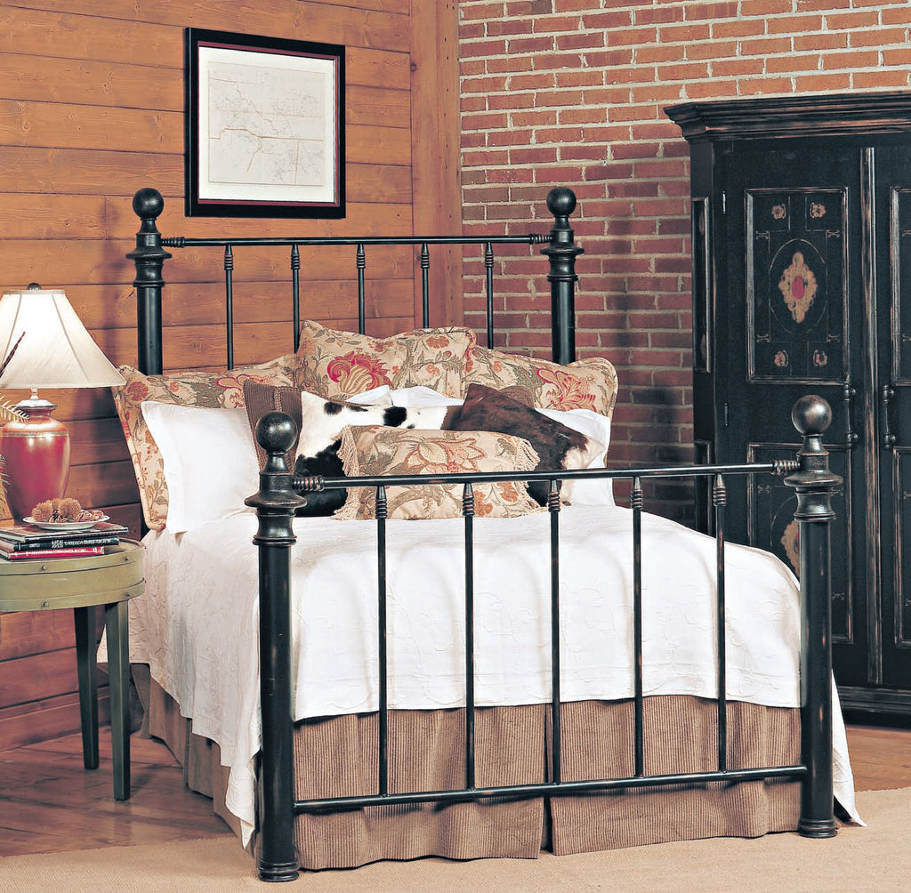Old Biscayne Saxon Antique Wrought Iron Bed