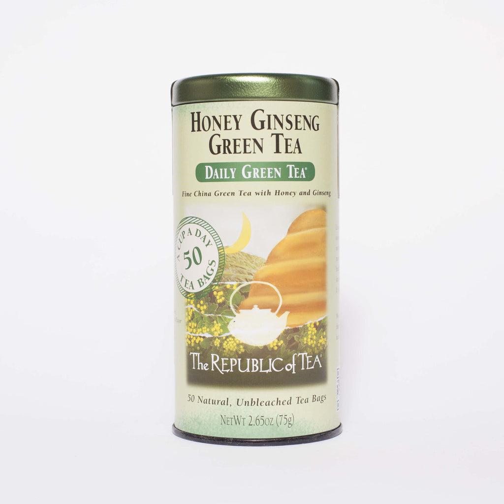 The Republic of Tea - Honey Ginseng Green Tea