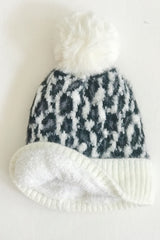 Leopard Vibes Beanie, Ivory