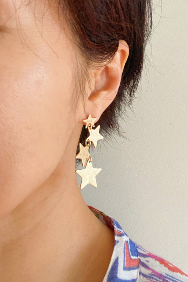Thousands of Stars Earrings, Gold