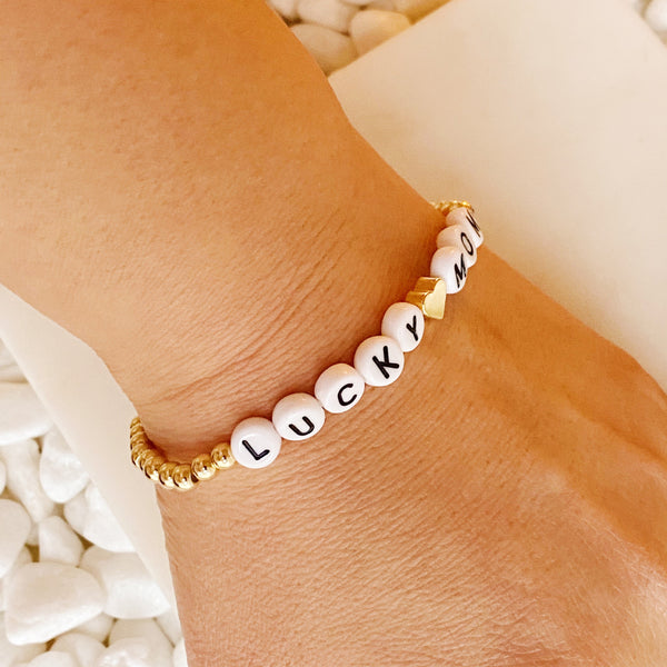 Lucky Mom Stretchy Bracelet