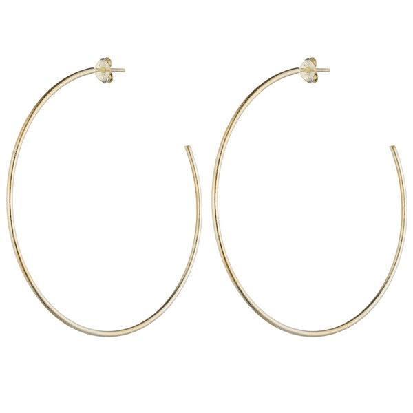 Jillian Hoop Earrings, Gold
