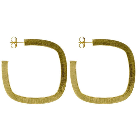 Sheila Fajl, Square Elisa Hoops in Gold
