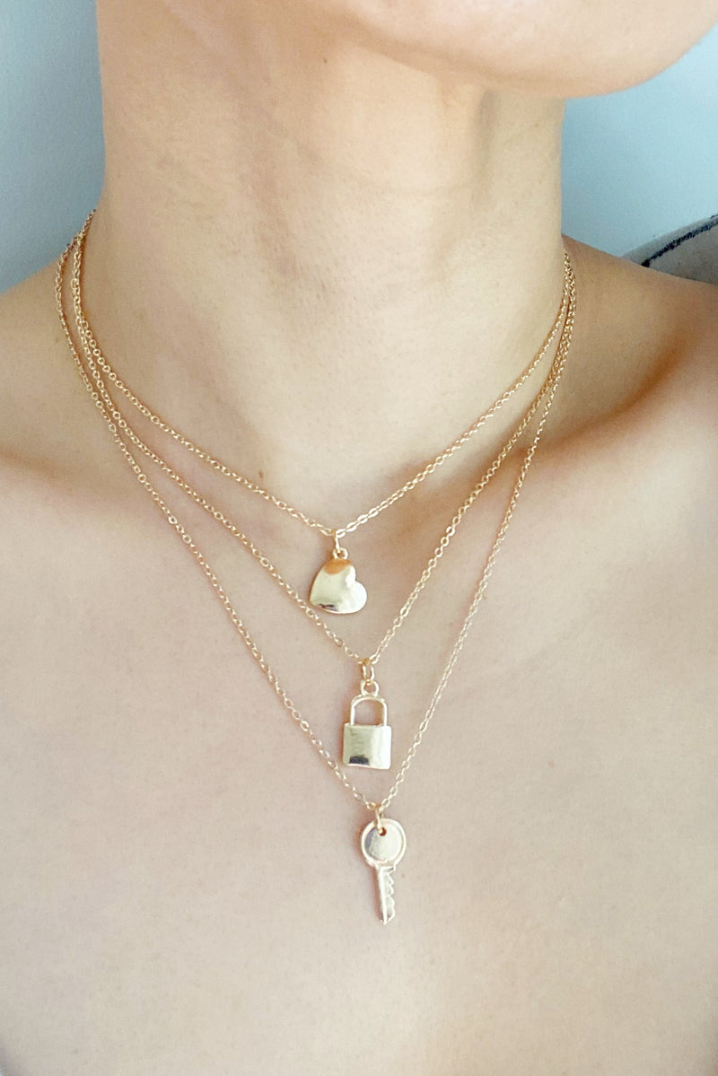 Love Trio Necklace Layered Necklace Set