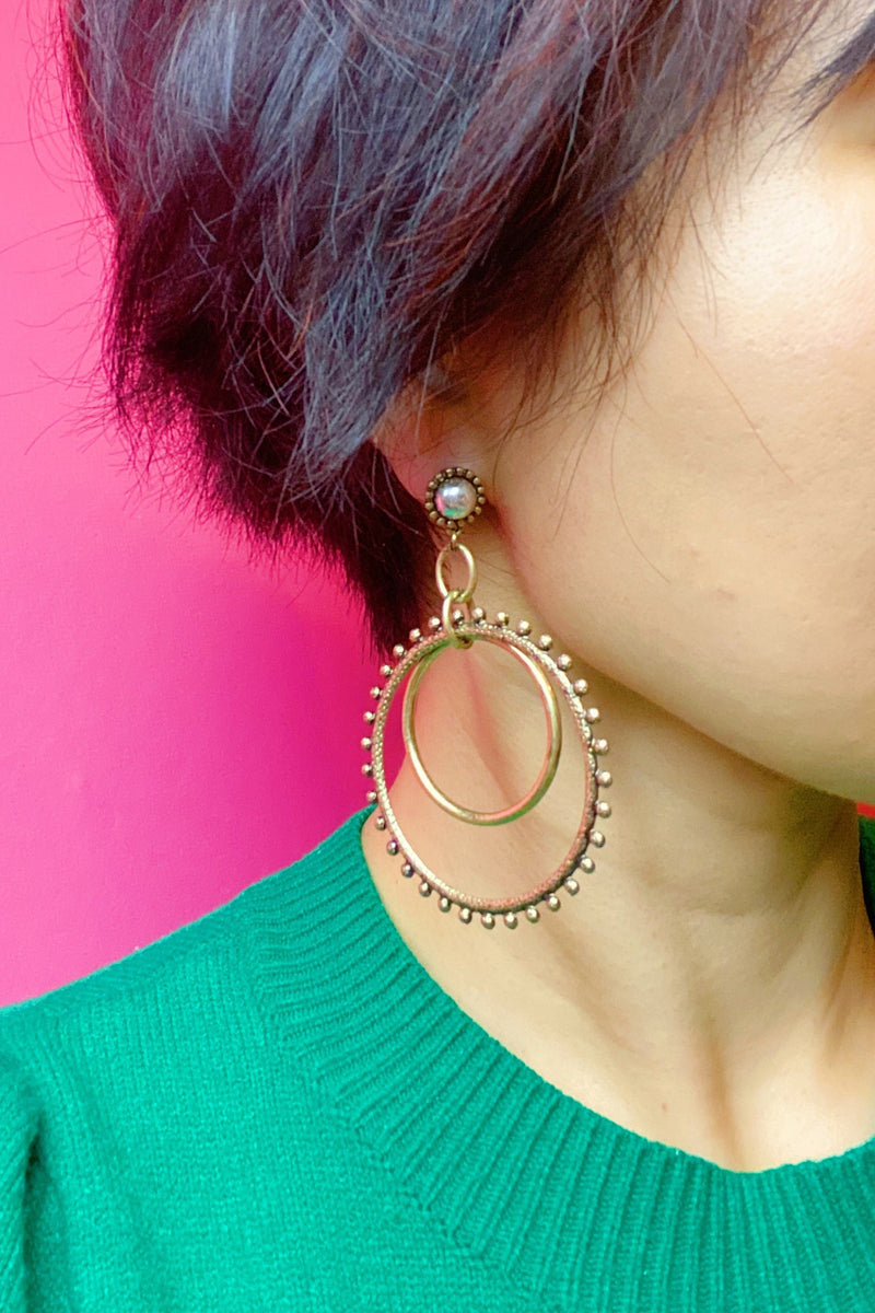 Double The Fun Hoop Earrings