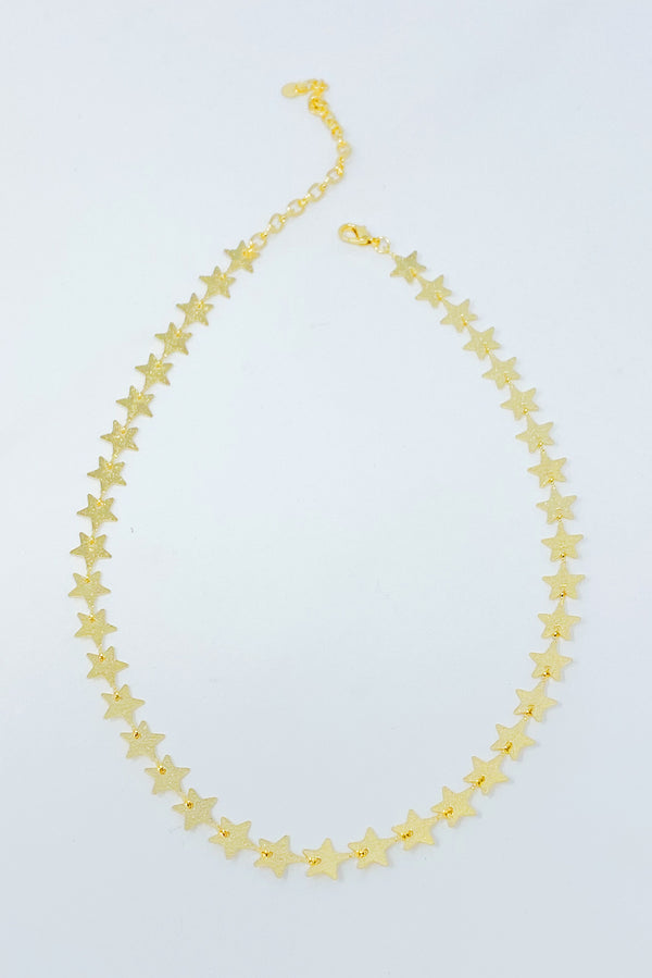 Row Of Stars Choker Necklace