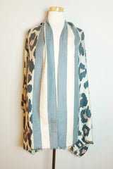 Trendy Leopard print scarf from online Boutique Ellison + Young