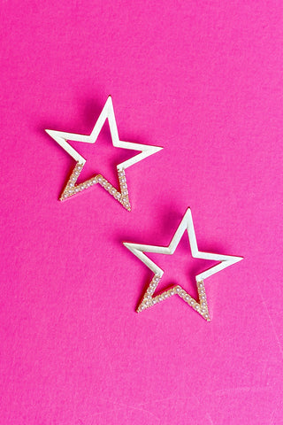 Pearl Studded Star Earrings