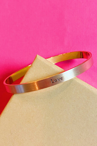 Note to Self Inspiration Cuff, Love
