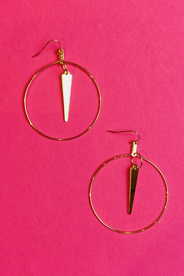 Spiked & Sassy Hoop Earrings