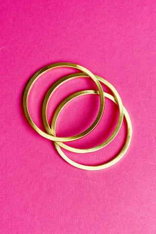Metal in the Middle Bangles, Worn Gold