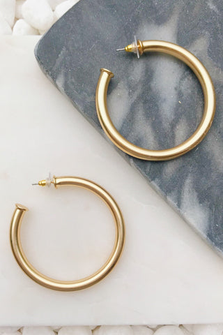 Upper Class Taste Hoop Earrings, Big Gold
