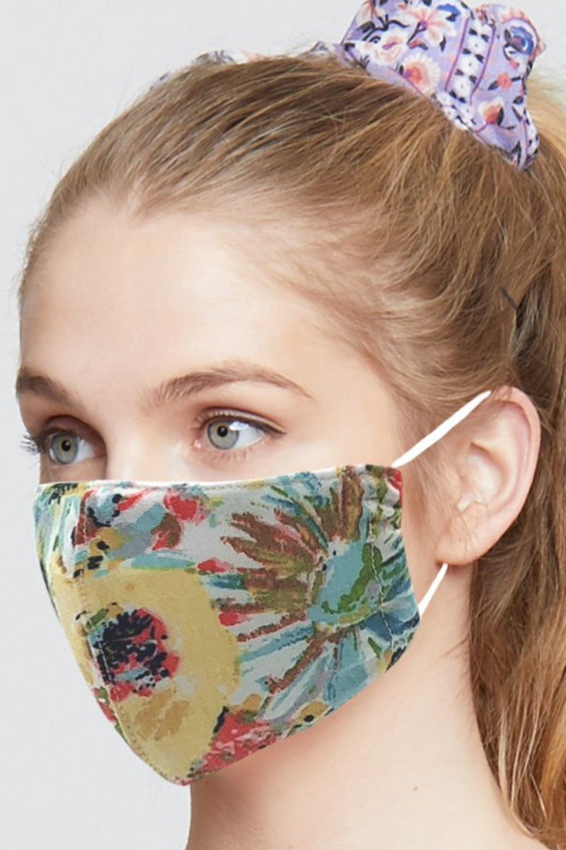 Flower Art Fabric Mask
