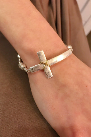 gold cross bracelets for women from Online jewelry Boutique Ellison + Young, religious gift