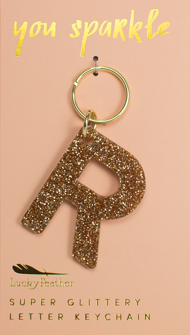 Initial letter key chain, personalized gift or accessory