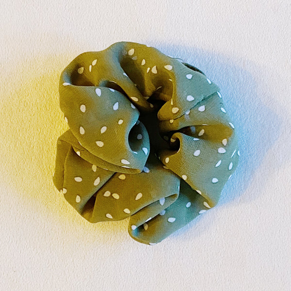 Soft Neutrals Polka Dot Scrunchie
