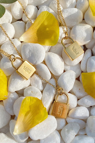 Locked In Love Monogram Necklace