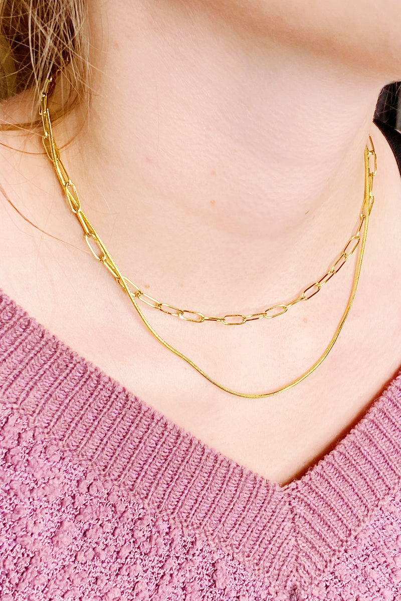Classic Layered Chain Necklace