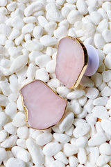 Beauty of nature Stone phone grip in pink crystal.